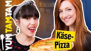 Das ultimative KÄSE-INFERNO! // American Cheese Pizza mit Lara Loft // #yumtamtam