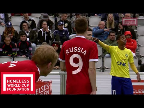 Oslo 2017 - Men's Homeless World Cup Semi Final - Brazil v Russia