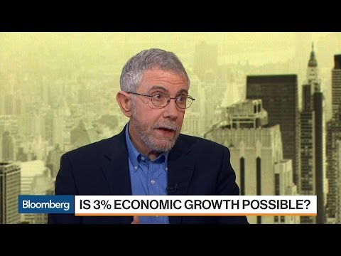 Economist Paul Krugman Doesn't See Return to 3% Growth