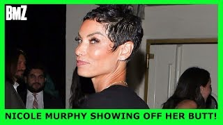 PICS: Nicole Murphy BENDS OVER In Front Of The Paprazzi .  Is She BEING THIRSTY?