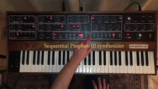 PROPHET-10 REV4 Synthesizer - Sound Demo - Vintage old school custom patches, Sequential reissue