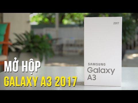 Mở hộp Samsung Galaxy A3 2017 - Smartphone chống nước giá RẺ NHẤT của Samsung