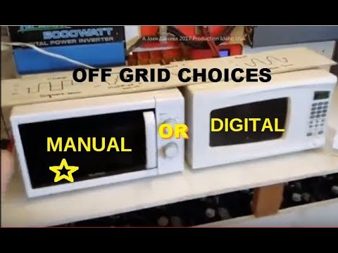 Microwave for OFF GRID using and explaining power inverters