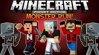 minecraft pocket edition multiplayer monster run w jailbreaker82 nikko