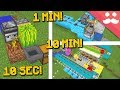 MINECRAFT FARMS: 10 Minute, 1 Minute, 10 Seconds!