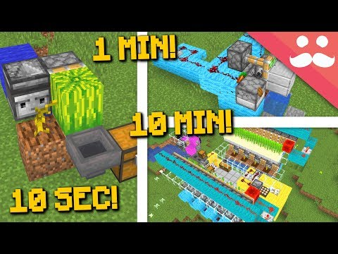 MINECRAFT FARMS: 10 Minute, 1 Minute, 10 Seconds! thumbnail