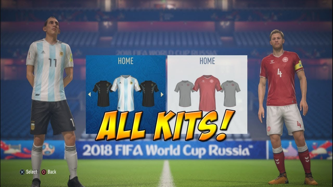 45d97fac9 FIFA 18 World Cup - All Kits - YouTube
