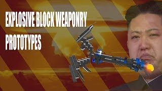 ROBLOX- Plane Crazy [Alpha] Explosive Block Weaponry Prototypes (Missiles and Bomb Carpet)
