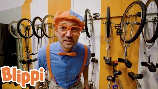 Blippi Learns Tricks at the CIRCUS Center!!   @Blippi - Educational Videos for Kids   Learn Tricks!