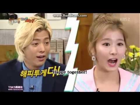 Twice Sana & kang nan japanese pronunciation Happy Together