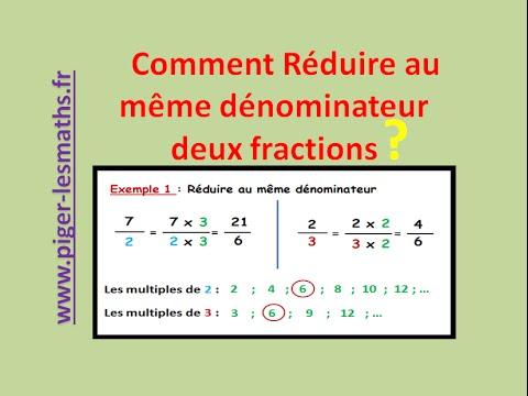 Réduire au même dénominateur des fractions | Math 5ème