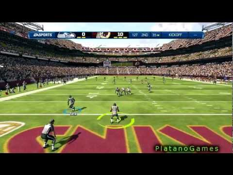 102 Yard Kick Return Touchdown Leon Washington - Seattle Seahawks - Madden NFL