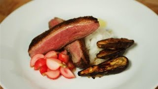 Duck Breast With Ponzu Sauce, Miso Aubergine And Pickled Radish: Simply Gourmet - S01e1/8