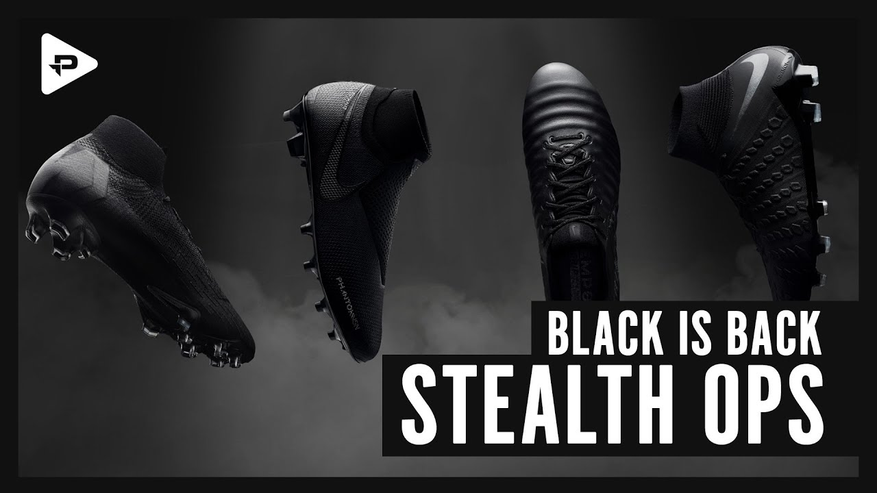 8d32c5ecfbe NIKE STEALTH OPS FOOTBALL BOOTS UNBOXING   CLOSER LOOK - NEW BLACK ...