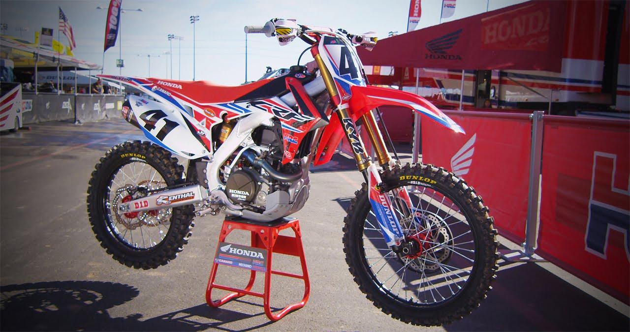 Inside Trey Canard S Factory Hrc Honda Crf450 Motocross Action Magazine You
