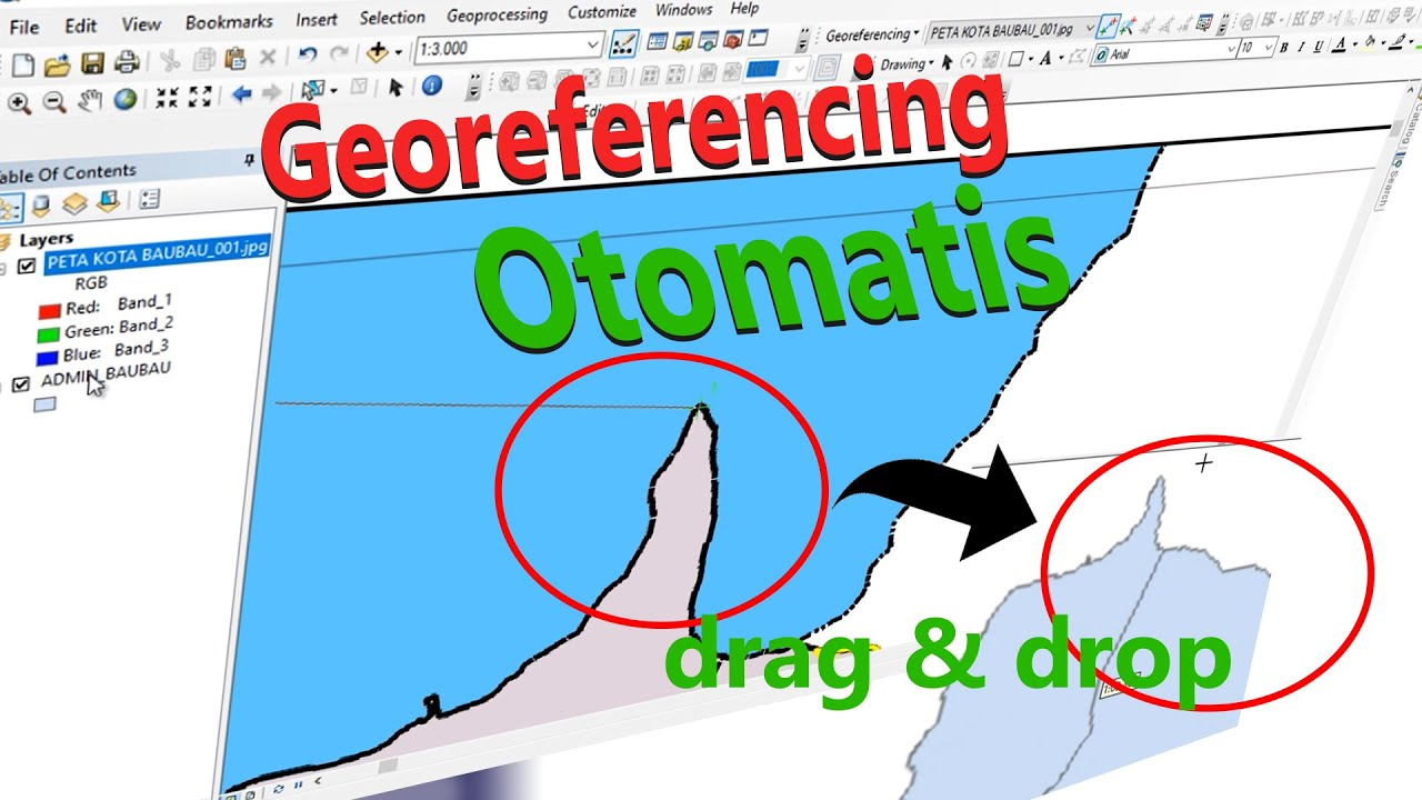 Teknik georeferencing di ArcMap (ArcGIS) | Drag & Drop