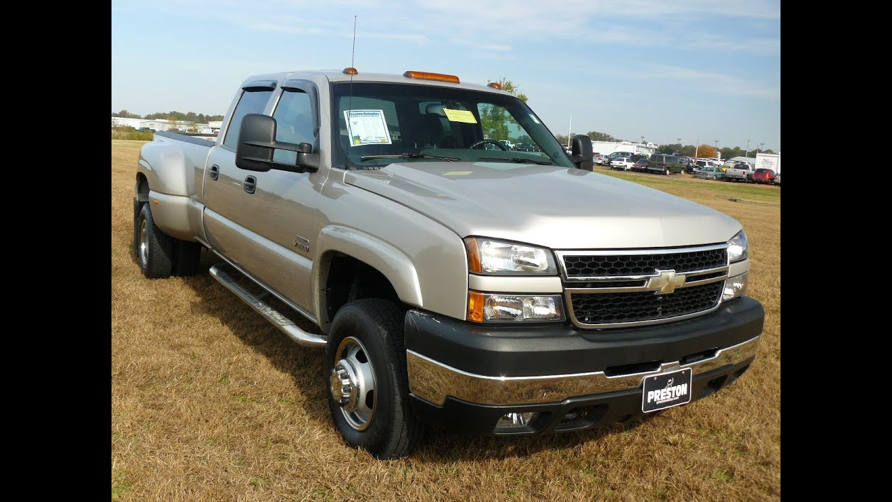 USED CAR TRUCK FOR SALE DIESEL V8 2006 Chevrolet 3500 HD DUALLY 4WD 29000  MILES! # F301629B