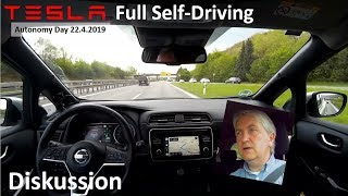 Tesla Full Self Driving Am Autonomy Day 22 4 2019 Diskussion