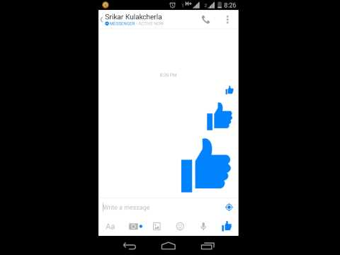 How To Get Big Like In Facebook Messenger?