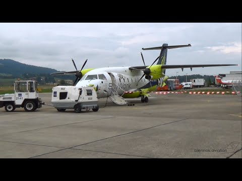 SkyWork Airlines SX1085: Alpenrundflug (Dornier 328) [HD 1080p]
