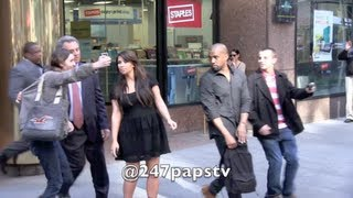 Kim Kardashian and Kanye West Security take out Fans in NYC