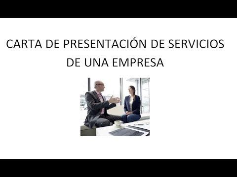 Carta de presentación de servicios de una empresa - YouTube