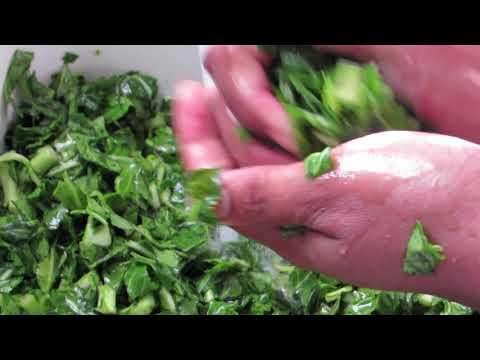 How I Clean My Shredded Collard Greens