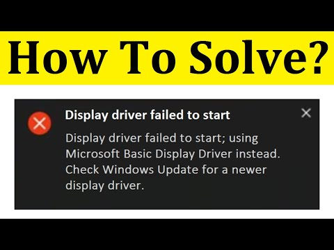 How To Fix Display Driver Failed To Start Error On Windows 10 || Black Screen
