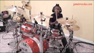 Red Hot Chili Peppers - Can't Stop, 8 Year Old Drummer, Jonah Rocks