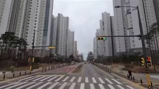 광역버스 3400번 버스 강남역 ~ 시흥 이마트 4배속 주행 영상 bus 4x driving video