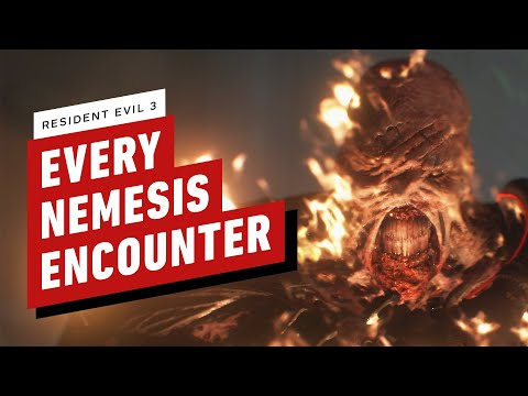 Every Nemesis Encounter In Resident Evil 3