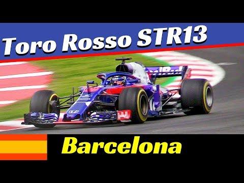 Toro Rosso STR13 Formula One [F1] - 2018 Official Pre-Season Tests - Montmelò (Barcelona) Highlights