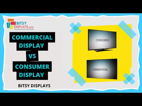 COMMERCIAL DISPLAYS V/S CONSUMER DISPLAYS 2020. (WHAT IS BEST FOR YOUR BUSINESS?)