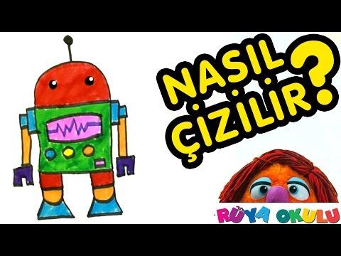Nasıl Çizilir? - Robot - Çocuklar İçin Resim Çizme - RÜYA OKULU