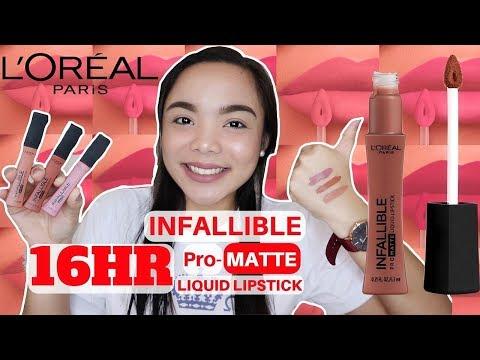 COMFORTABLE & LONG LASTING LIQUID LIPSTICK | L'Oreal Infallible 16HR Pro-Matte Liquid Lipstick