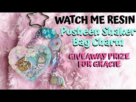 WATCH ME RESIN - Pusheen Shaker Bag Charm - Giveaway Prize For Gracie!