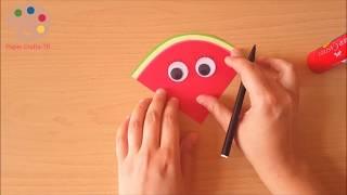 Watermelon Slice Craft