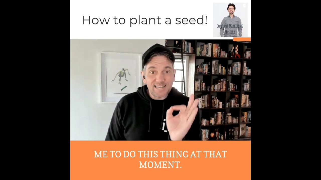 How to plant a seed as a public speaker!