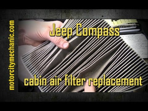 2008 Jeep Compass Cabin Air Filter Removal And Replacement Youtube