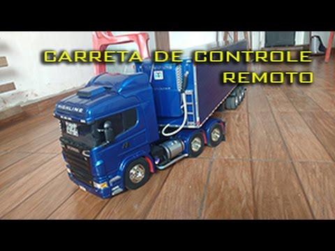 Miniatura caminhão Scania Carreta de Controle Remoto (Tamiya 1/14)