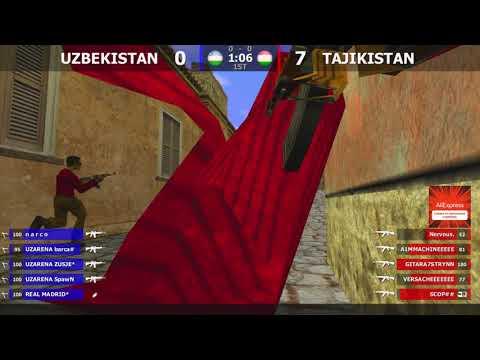 Матч-Реванш по CS 1.6 [UZBEKISTAN -vs- TAJIKISTAN] 1map @kn1fe TV