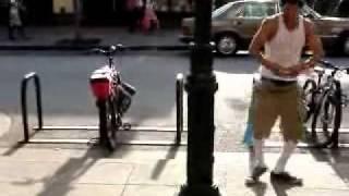 {RARE} Chris Rene Video, Dancing on the streets in Santa Cruz California - X-Factor 2011 USA