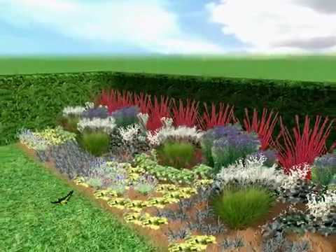 Free Garden Plans Low Maintenance Garden Design Border Plan YouTube