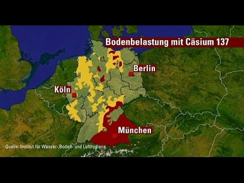 Radioaktive Belastung in Bayern