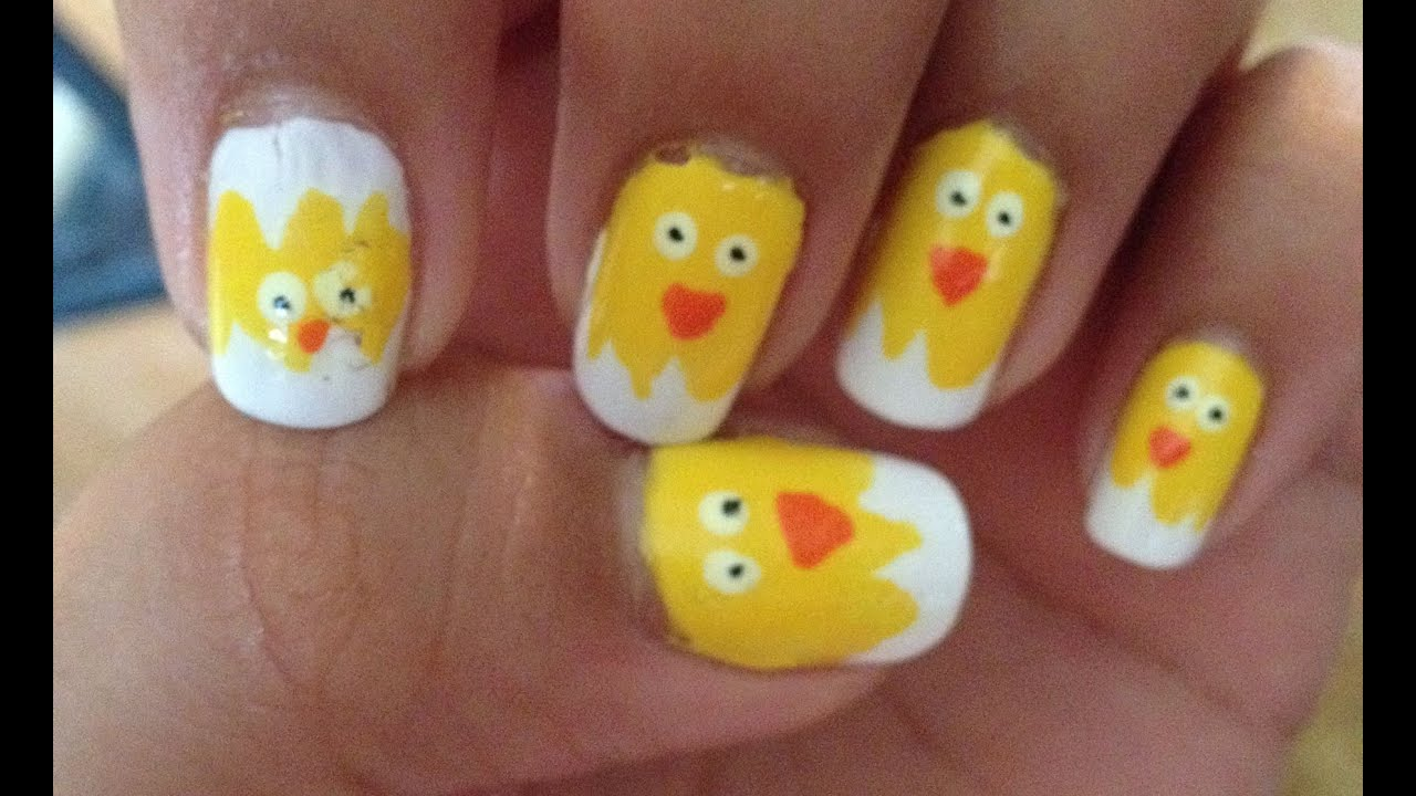 Chick-a-dee Nail Art - YouTube