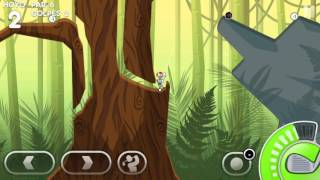 Super Stickman Golf 3 : -2 on Rain Forest hole 2! #ssg3
