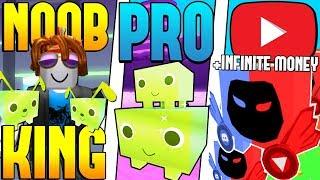 NOOB KING VS PRO VS YOUTUBER - ROBLOX PET SIMULATOR VERSION! *FUNNY!*