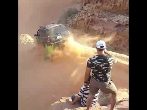 Jordan offroad Down hill at wadi araba