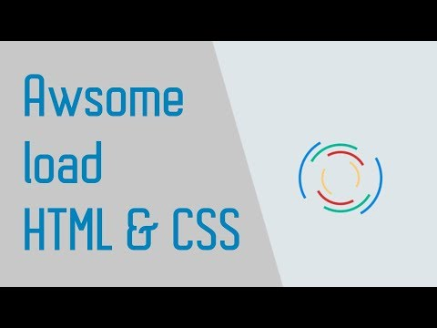 Awsome Loading Screen Only By HTML & CSS