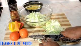 Chef Ricardo Cooking Shows - Jamaican Home Made Fresh Green Salad